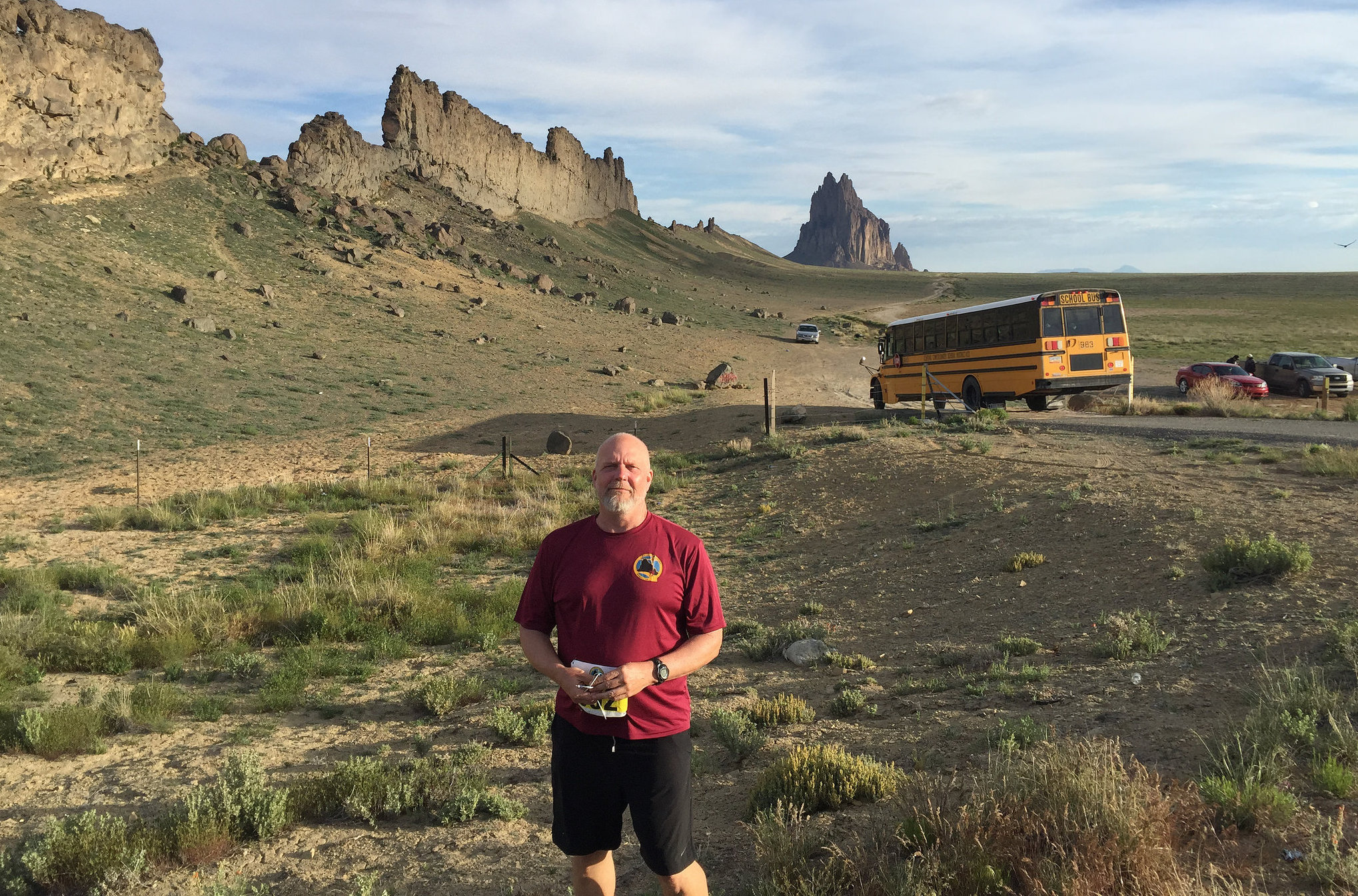 Me at Start of Shiprock Half-Marathon