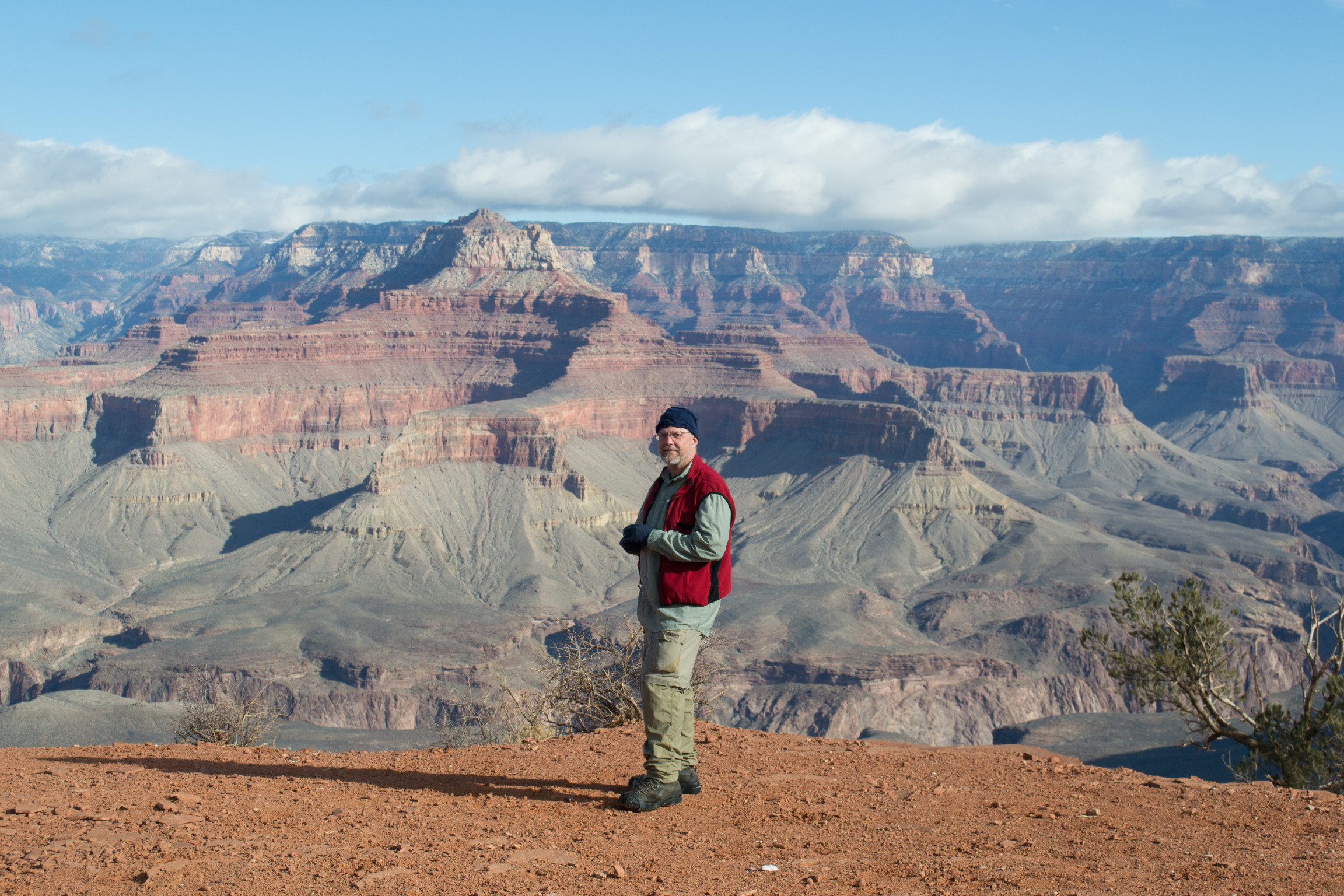 Phil on Cedar Ridge, along the South Kaibab trail to the bottom.