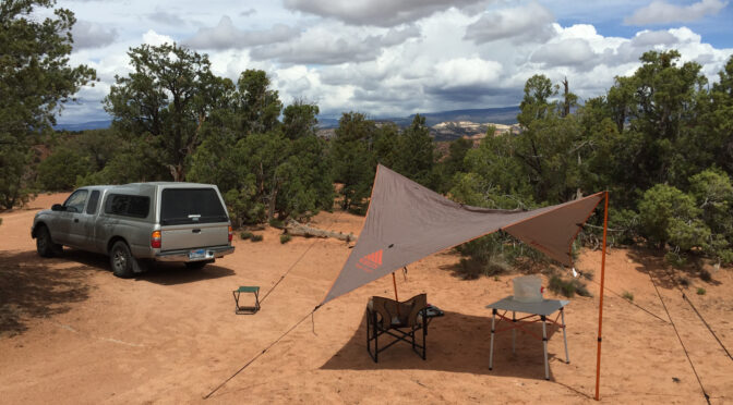 Using a tarp for car camping