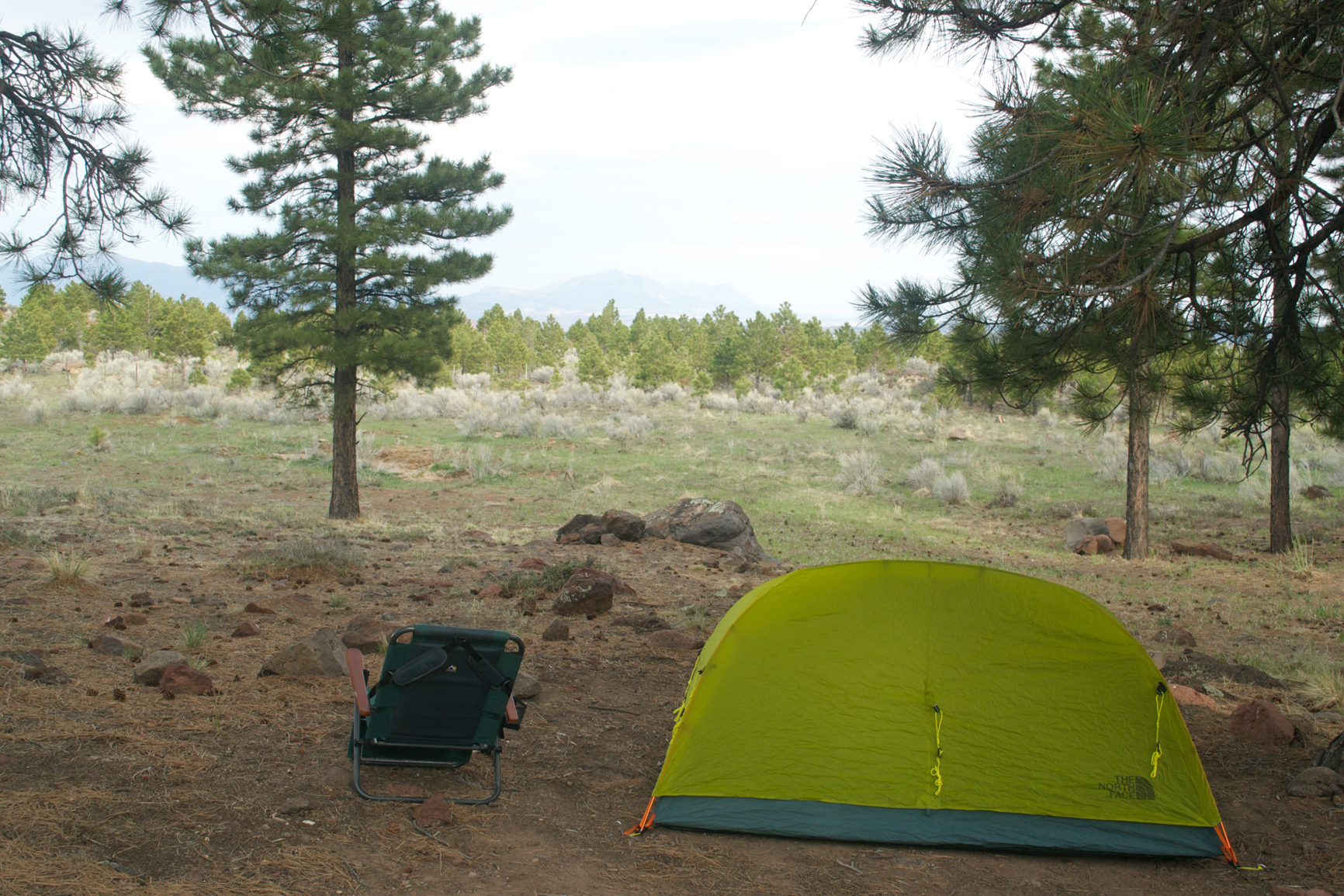The North Face Meso 22; got it on sale. Ok tent, but it's mostly screen; in high winds (like Dixie National Forest here in Utah) the fine-grain sand blows right in. May, 2014.