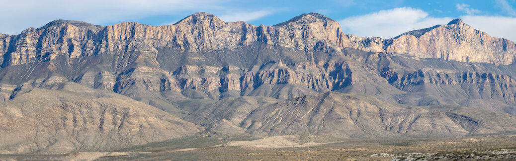 Panaromic view of Guadalupe escarpment