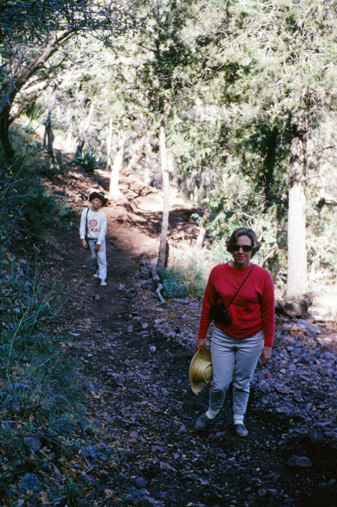 Me, Mom, starting up South Rim trail